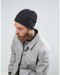 SELECTED - Beanie In Grey - Lyst