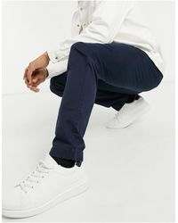 Hollister Pantalon chino - Bleu marine
