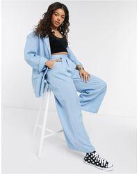 Monki Grace Suit Co-ord Relaxed Fit Blazer - Blue