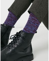 ASOS Random feed - Chaussettes pour bottes avec motif - Violet