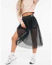 New Balance Черные Леггинсы-шорты С Юбкой Из Тюля -черный - Многоцветный