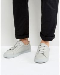 ASOS - Sneakers In Gray With Tumbled Effect - Lyst