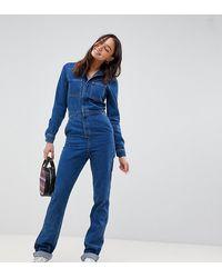 ASOS Asos Design Tall Boilersuit - Blue