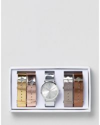 ALDO Metallic Multi Strap Watch