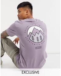Columbia Фиолетовая Футболка Tillamook – Эксклюзивно Для Asos-фиолетовый - Пурпурный