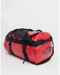 The North Face Base Camp - Borsa a sacco media nera e rossa da 71l - Rosso