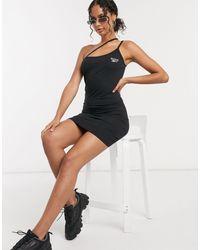 Reebok Черное Платье На Бретельках С Логотипом -черный