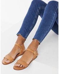ALDO Two Part Flat Sandals - Blue