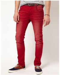 ASOS Skinny Jeans - Red