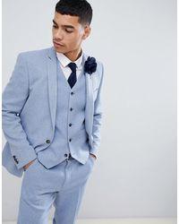 ASOS Wedding Skinny Suit Jacket - Blue