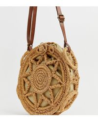 South Beach Tan Crochet Cross Body Bag - Brown