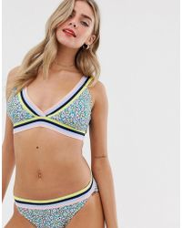 Juicy Couture - Printed Bikini Top - Lyst