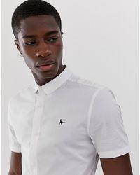 Jack Wills – Tencreek – es Popelinehemd mit kurzen Ärmeln - Weiß