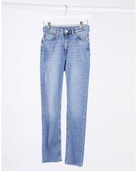 Weekday Thursday Organic Cotton High Waist Skinny Jeans - Black