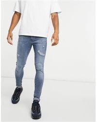 River Island Spray On Jeans - Blue