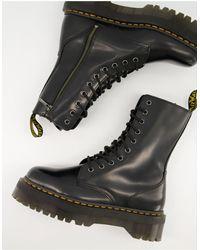 Dr. Martens Черные Высокие Ботинки С 10 Парами Люверсов Jadon-черный Цвет
