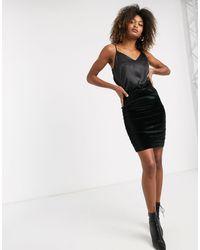 B.Young Gathered Side Skirt - Black