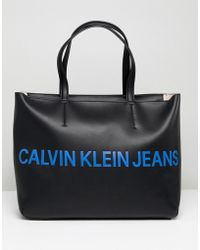 Calvin Klein - Jeans Tote Bag With Logo - Lyst