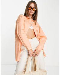 ALIGNE Organic Cotton Oversized Shirt - Orange
