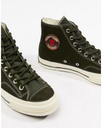 Converse - Chuck Taylor All Star '70 Hi Trainers In Green 162371c - Lyst