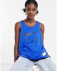 Nike Basketball Fly Reversible Jersey - Blue