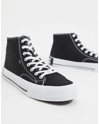 Tommy Hilfiger Hoge Sneakers - Zwart