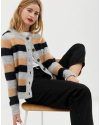 SELECTED Femme Multi Stripe Knitted Cardigan - Multicolor