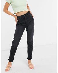 Urban Bliss Mom Jeans - Black