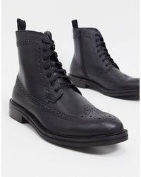 River Island Brogue Boot - Black