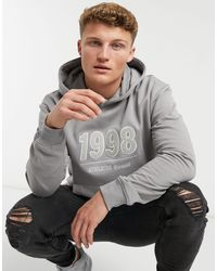 New Look Hoodie With Applique 1998 Detail - Grey