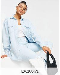 Missguided Co-ord Denim Shirt - Blue