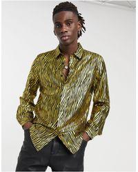 ASOS Camisa dorada metalizada - Multicolor