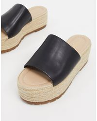 ALDO Espadrille Flatform Mules - Black