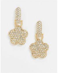 ASOS Золотистые Серьги-подвески С Кристаллами - Металлик