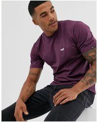 Vans T-shirt bordeaux con logo piccolo - Rosso