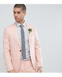 Noak - Skinny Wedding Suit Jacket In Crosshatch - Lyst