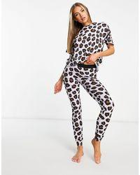 Lindex Exclusive Organic Cotton T-shirt And leggings Set - Multicolour
