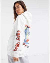 New Girl Order Oversized Lazy Beach Hoodie - White