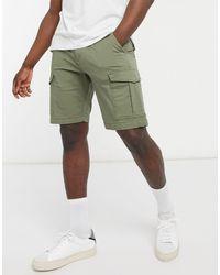 Jack & Jones Pantalones cortos caqui estilo cargo - Verde