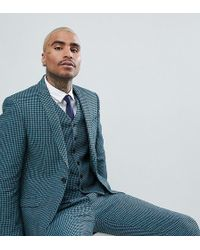 Heart & Dagger - Skinny Wedding Suit Jacket In Summer Dogstooth - Lyst