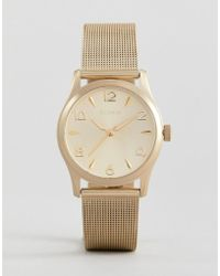 Pilgrim - Gold Plated Watch - Lyst
