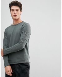 SELECTED - Sweatshirt With Raglan Sleeve And Straight Hem - Lyst