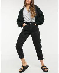 Bershka Mom jeans neri - Nero