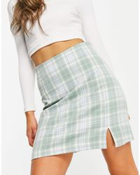 New Look - A-line Mini Skirt With Side Split - Lyst