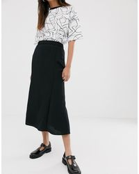 Monki Midi Skirt - Black