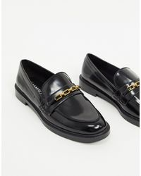 Mango Patent Loafers - Black