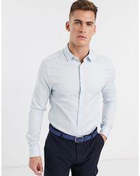 ASOS Голубая Оксфордская Рубашка Скинни - Многоцветный