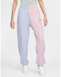 Nike Oversized joggingbroek Met Pastelkleurige Kleurvlakken En Klein Metallic Swoosh-teken - Meerkleurig