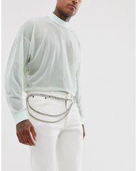 ASOS Silver Chain Belt - Metallic