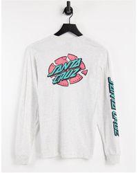 Santa Cruz Oversized Broken Dot Long Sleeve T-shirt - Grey